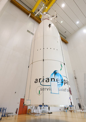 Ariane 5 fairing preparations for MSG-3 launch