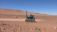 SEEKER rover on desert loam