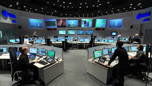 Main Control Room at ESOC, ESA's Space Operations Centre, Darmstadt, Germany