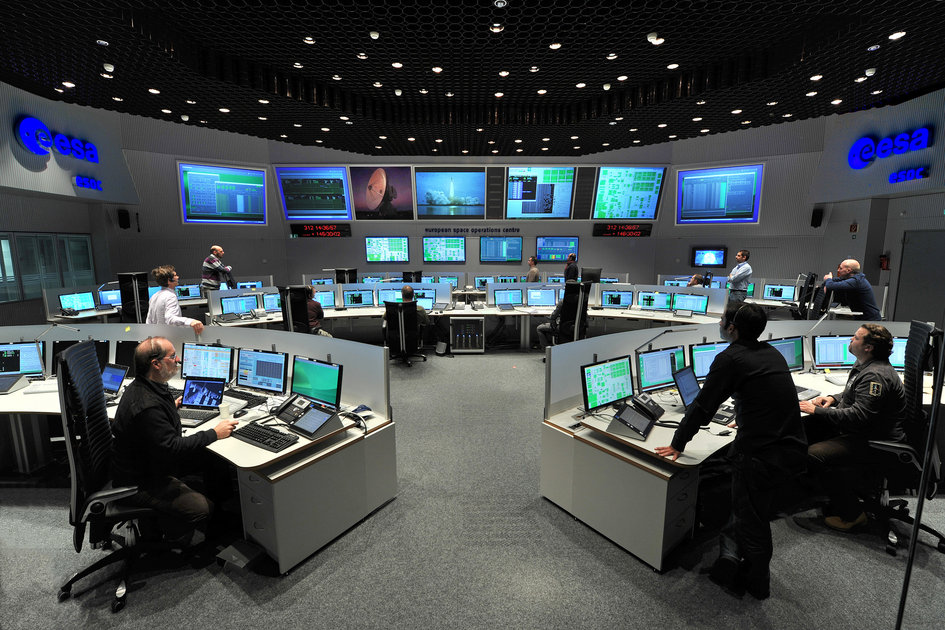 Main Control Room at ESA's Space Operations Centre
