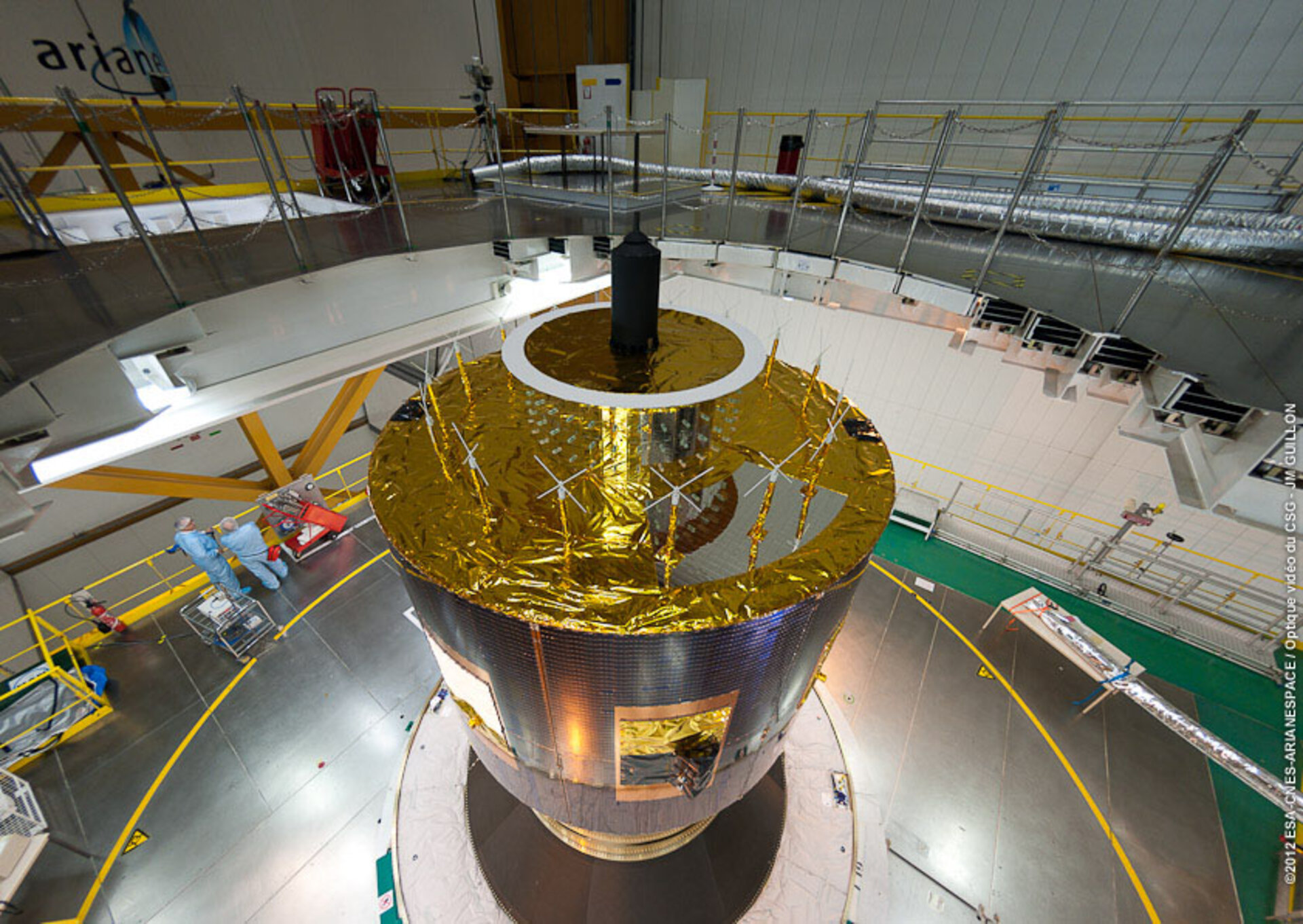 MSG-3 ready for encapsulation in fairing