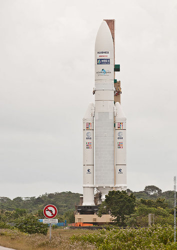 Ariane 5 Flight VA207 transferred to launchpad