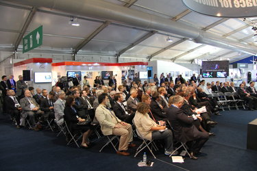 Audience during Industry Space Day Conference, Farnborough airshow, 12 July 2012