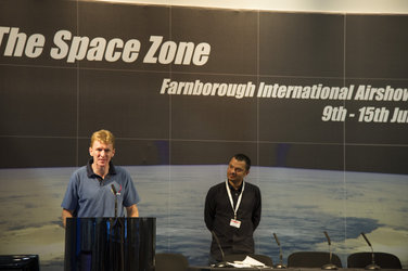 Careers Day with ESA astronaut Tim Peake, Farnborough airshow, 11 July 2012