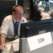 ESA's Chris Watson in ESOC's Main Control Room for MSG-3 launch
