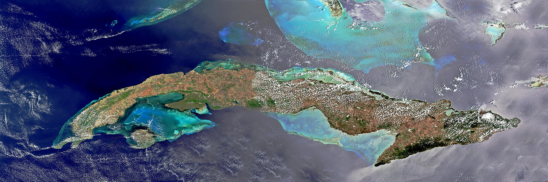 Caribbean Islands Satellite Map