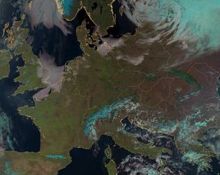 High pressure over Europe