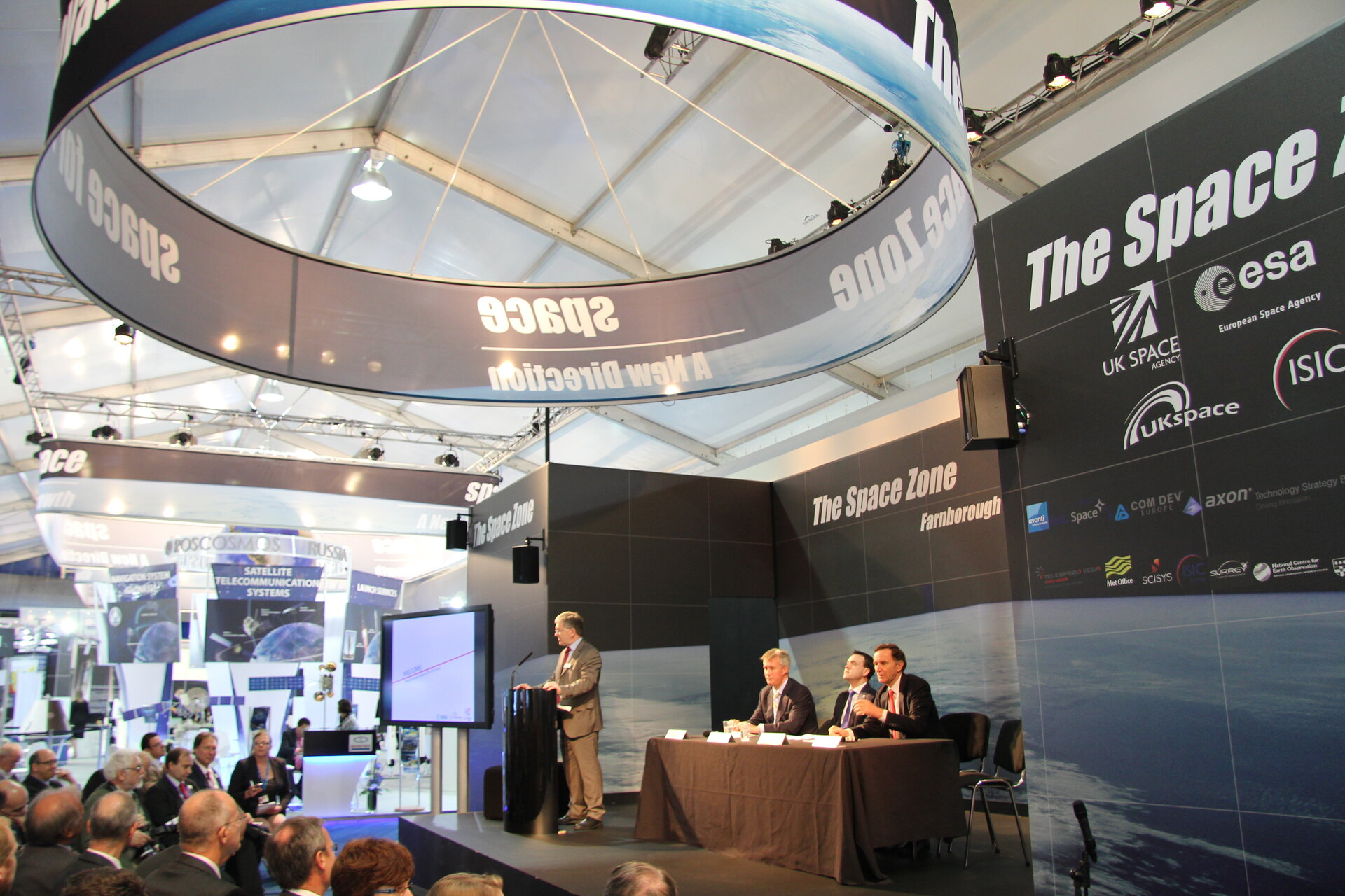 Industry Space Day Conference, Farnborough airshow, 12 July 2012