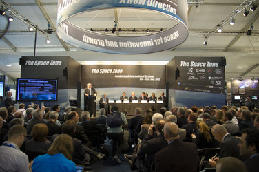 Jean-Jacques Dordain during the Space Day Conference, Farnborough airshow, 10 July 2012