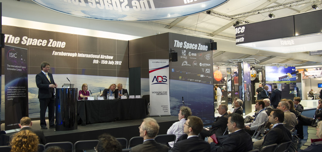 M. Ditter, Head of ESA's Harwell Centre, presents