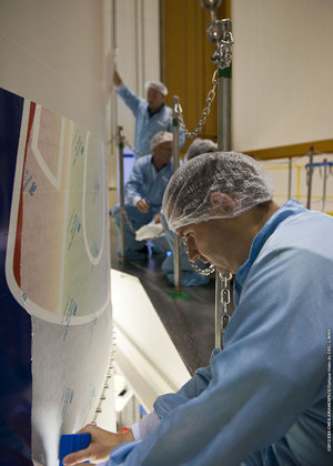 MSG-3 logo applied to Ariane 5 fairing