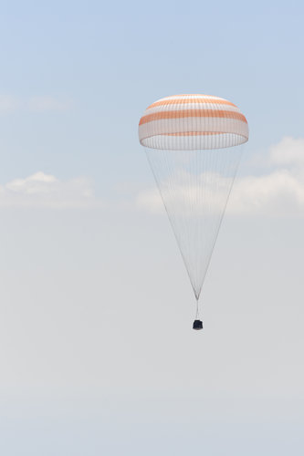 Soyuz before landing