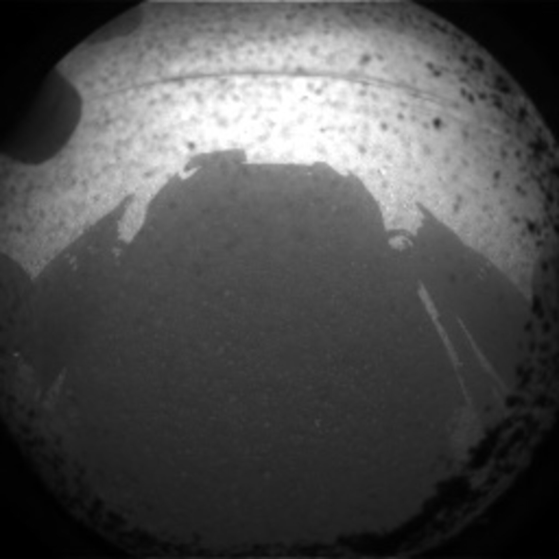 Curiosity's first view of Mars