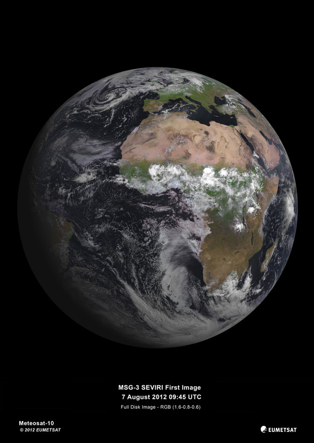 MSG Europes Latest Weather Satellite Delivers First Image - Most current satellite maps