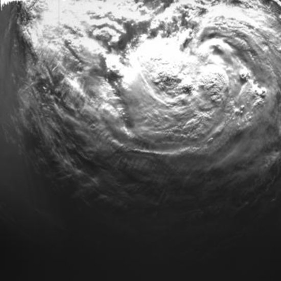Tropical storm imaged from orbit