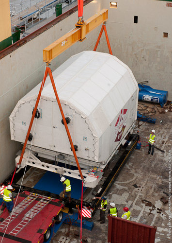 ATV-4 arrives in Kourou