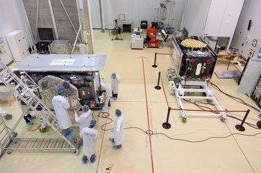 Galileo satellites in preparation