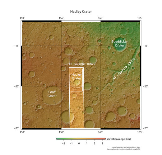 Hadley Crater in context