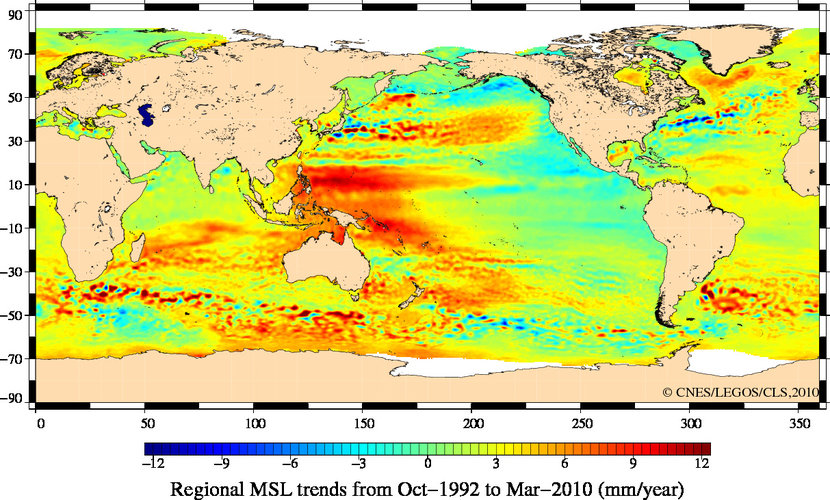 Mean sea level trends