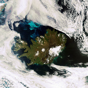 Cloud-free image of Iceland