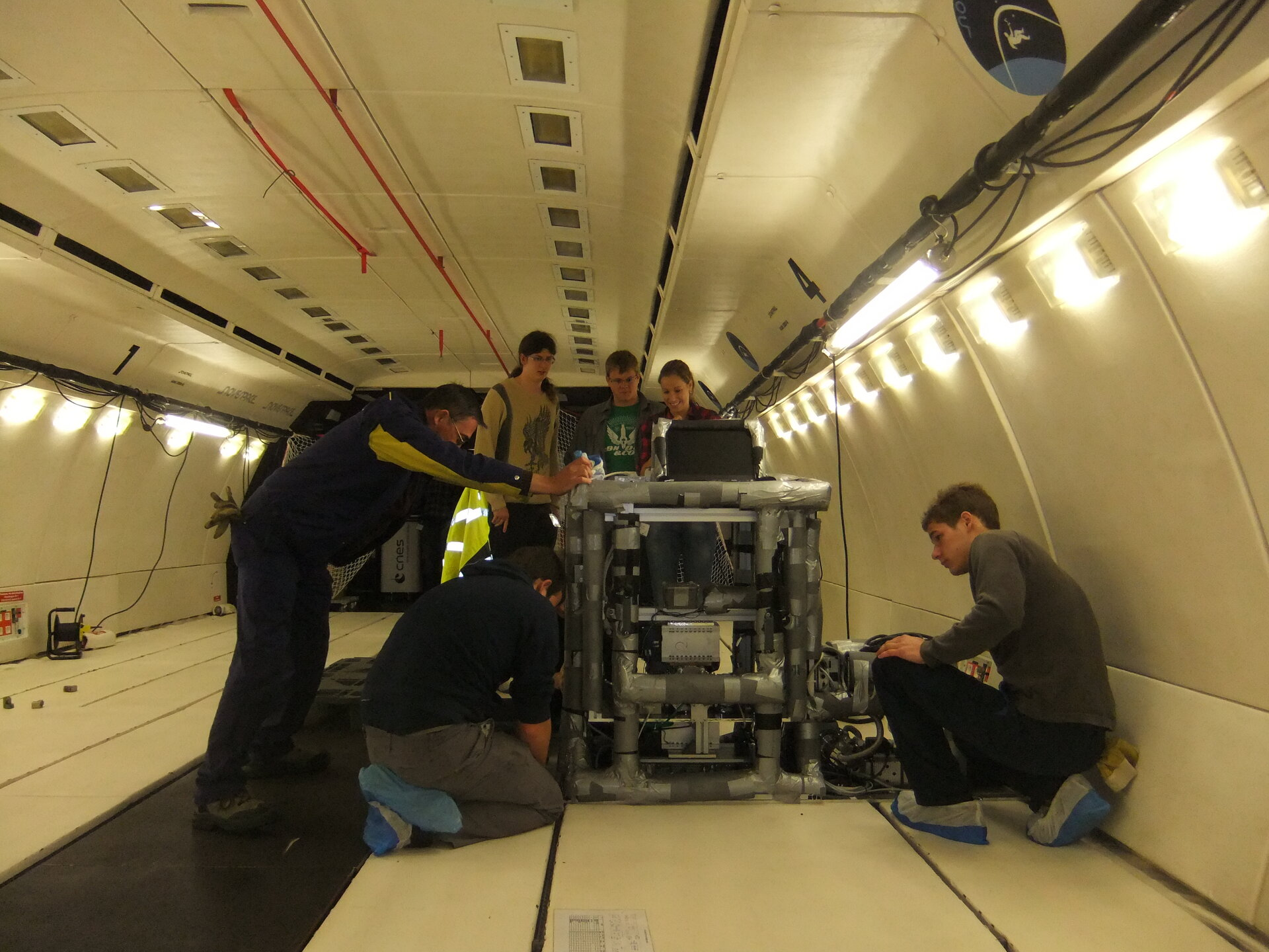 Dustbrothers experiment on Zero-G aircraft