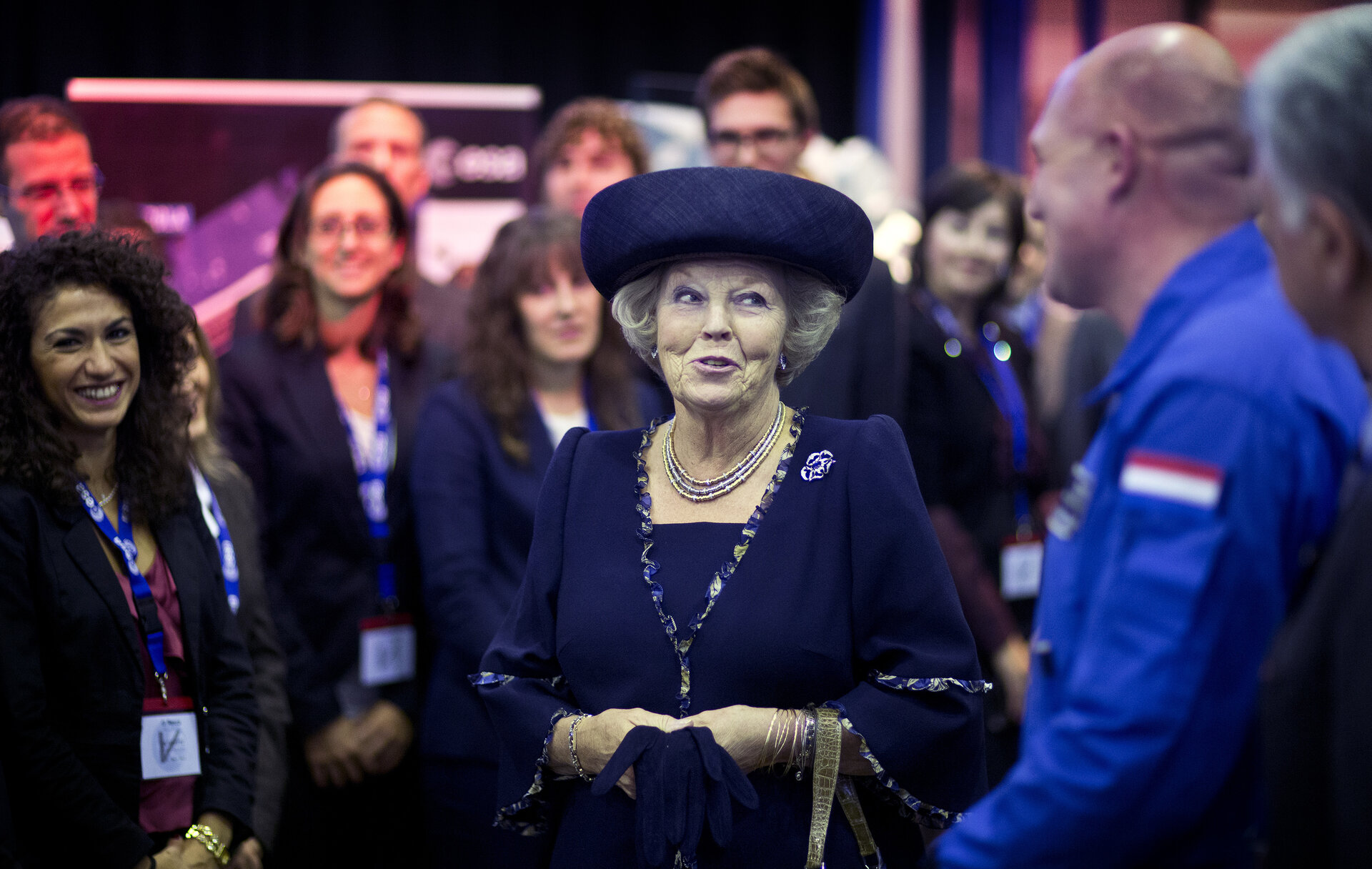 ESA astronaut Andre Kuipers with HM Queen Beatrix