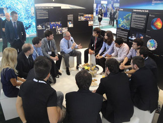 ESA Director General with ESA-sponsored students
