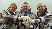 Expedition 36/37 crew during Soyuz training