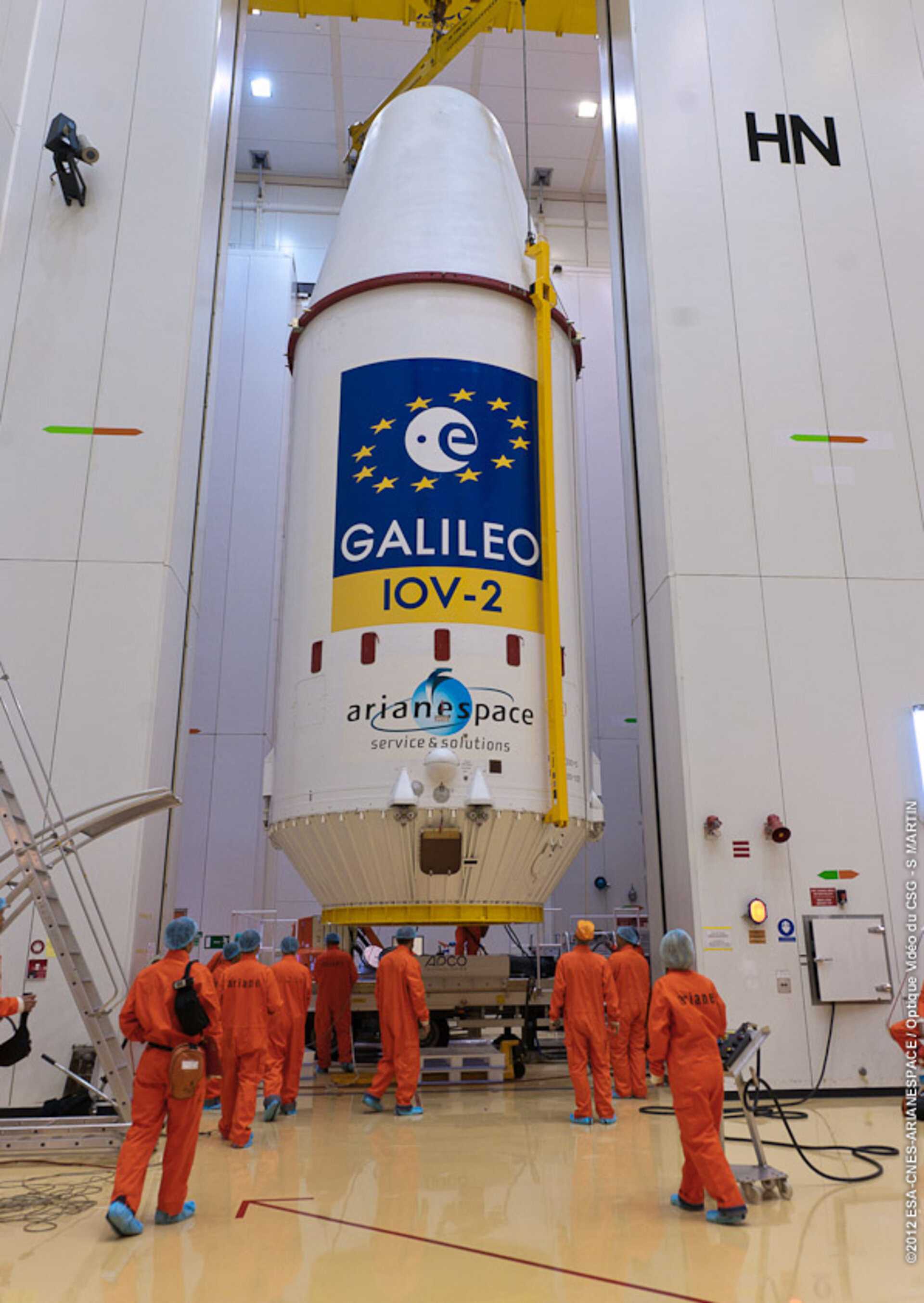Galileo integrated onto Soyuz