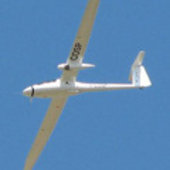 Glider with Ka-band radar under wing