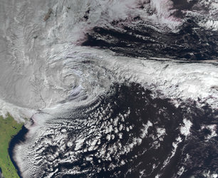 Hurricane Sandy as seen by MetOp-A