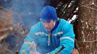 Luca Parmitano during winter survival training