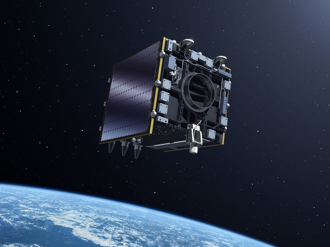 Artist view of the Proba-V satellite