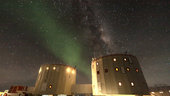 Aurora Australis over Antarctica's Concordia research station