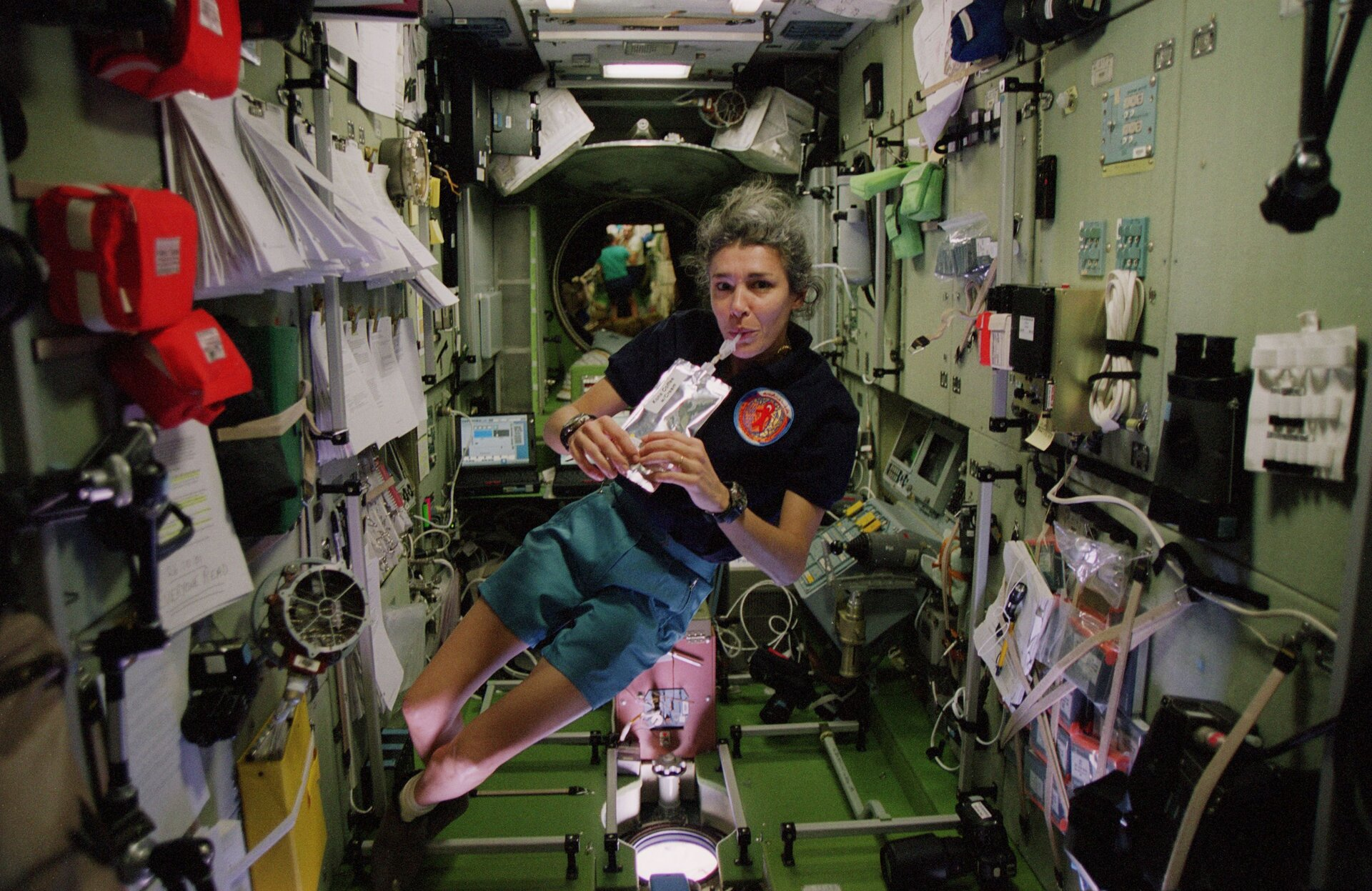 Claudie Haigneré on ISS