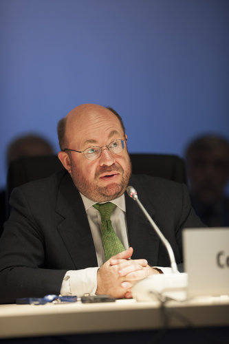 François Biltgen during the Ministerial Council press conference