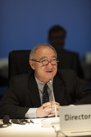 Jean-Jacques Dordain during the Ministerial Council press conference