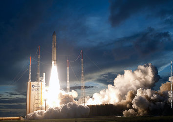 Liftoff of Ariane VA210