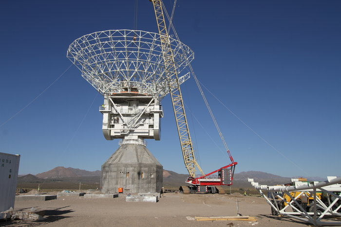 ESA's third 35m tracking station is located at Malargüe, Argentina, and is part of the ESTRACK network