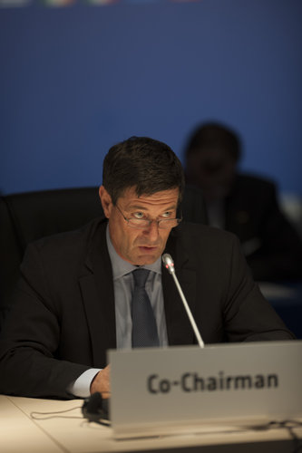 Mauro Dell'Ambrogio during the Ministerial Council press conference