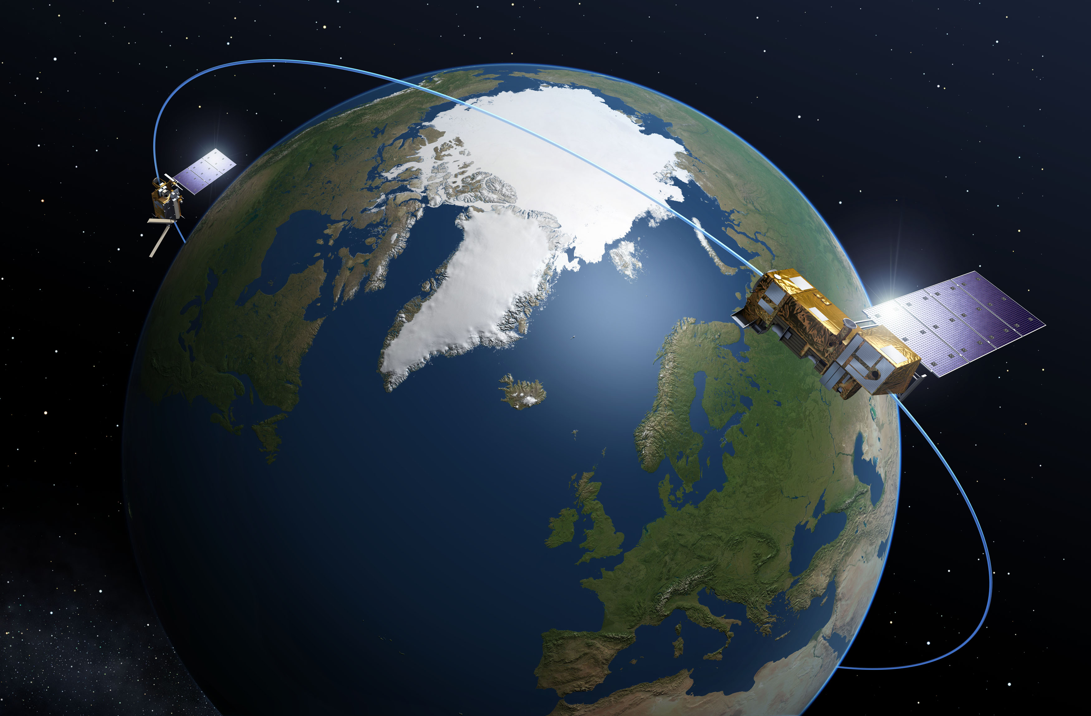 Картинки спутник вокруг земли