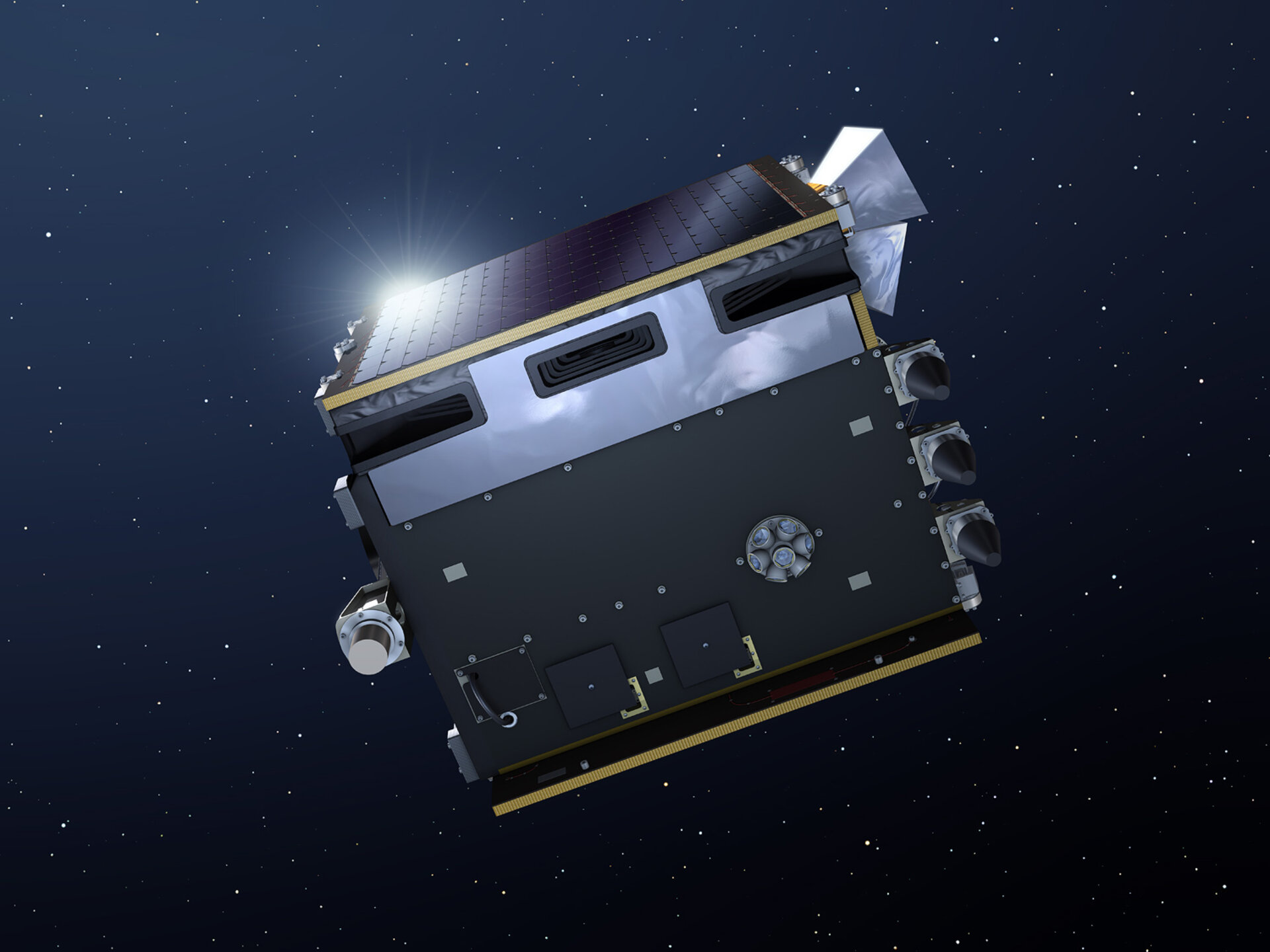 Artistic impression of the Proba-V satellite
