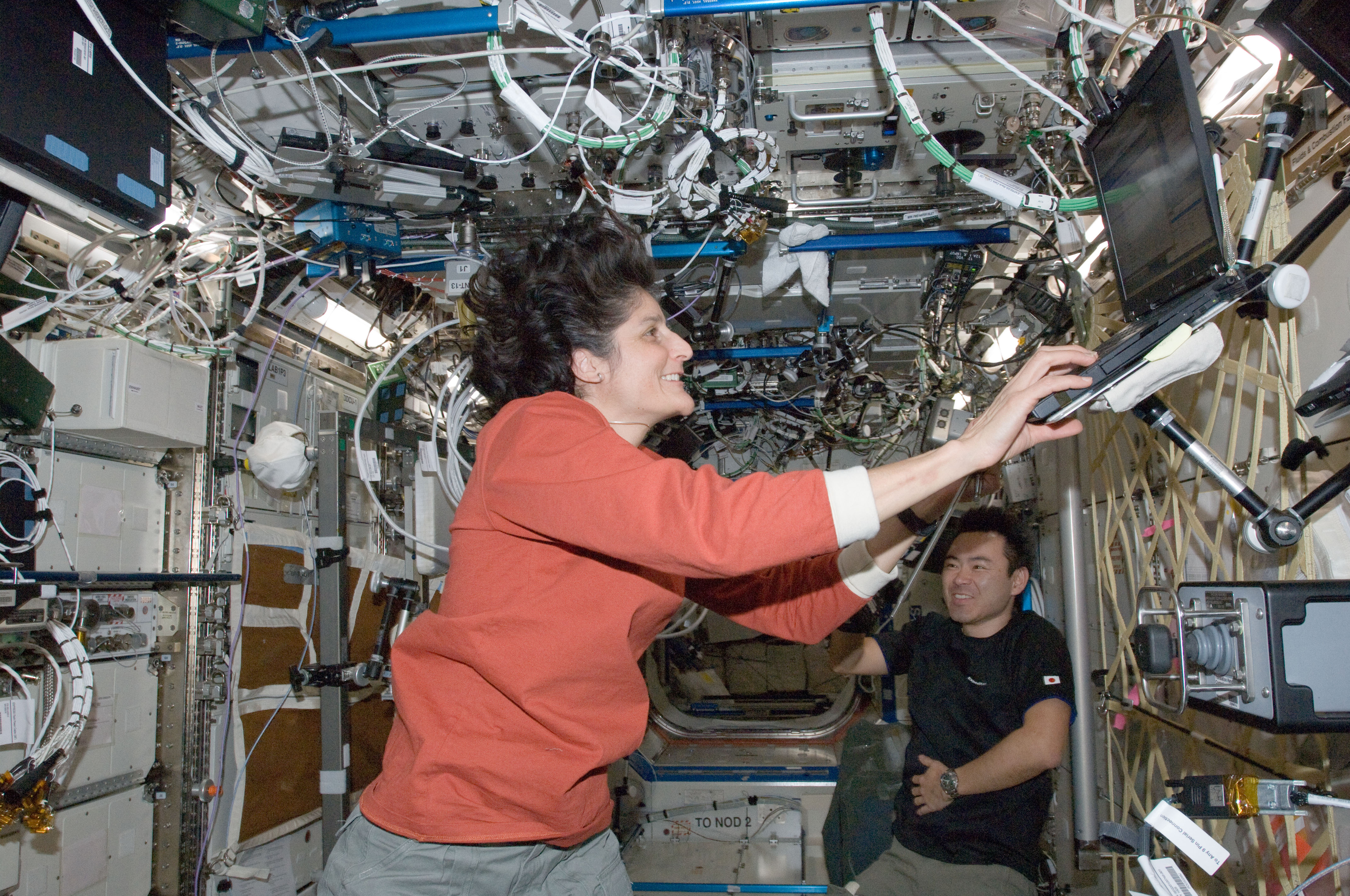 sunita williams in space station -#main
