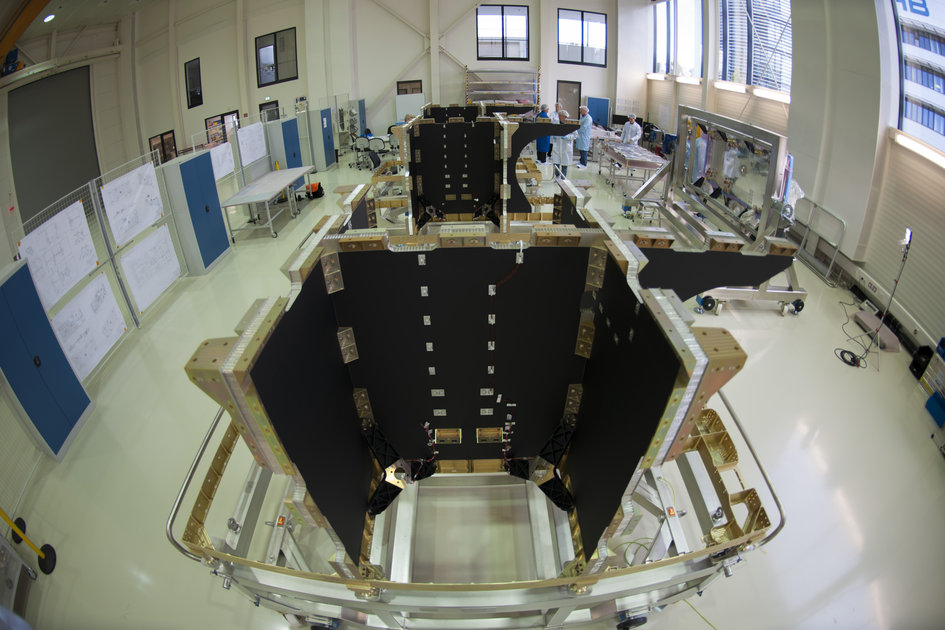 Galileo satellite production line