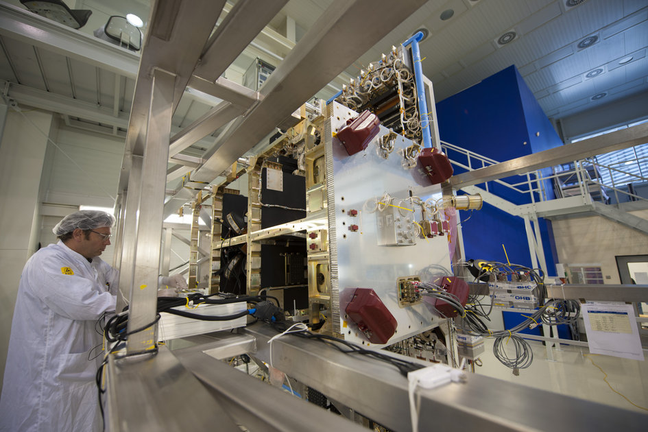 One of the first six Galileo FOC satellites at OHB