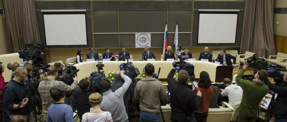Soyuz TMA-07M press conference