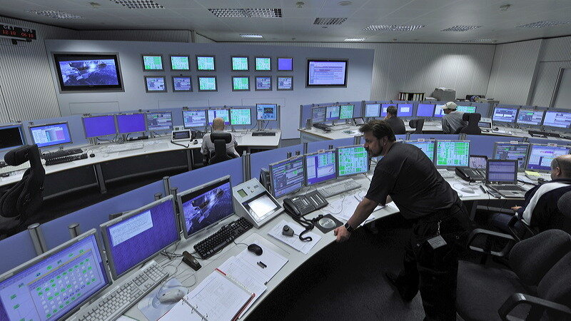 Tracking stations control room at ESOC