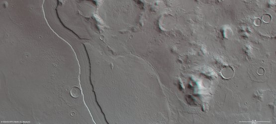 3D view of Reull Vallis