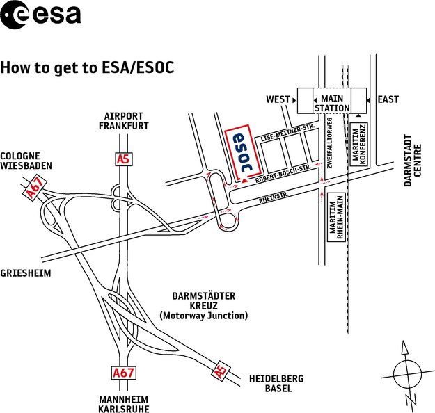 Getting to ESOC ESOC About Us ESA