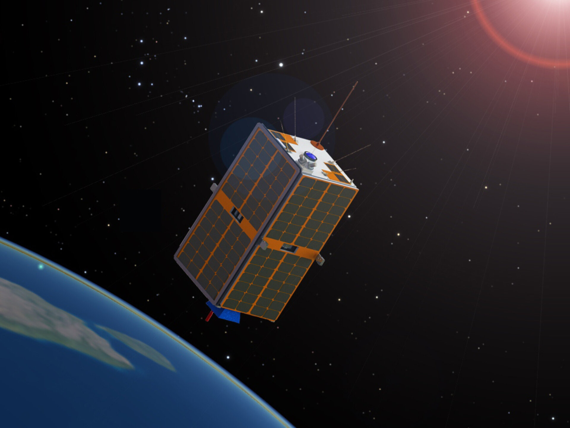 Artist's impression of ESEO deployed in orbit